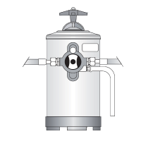 Bezzera manual water softner, 8 litres