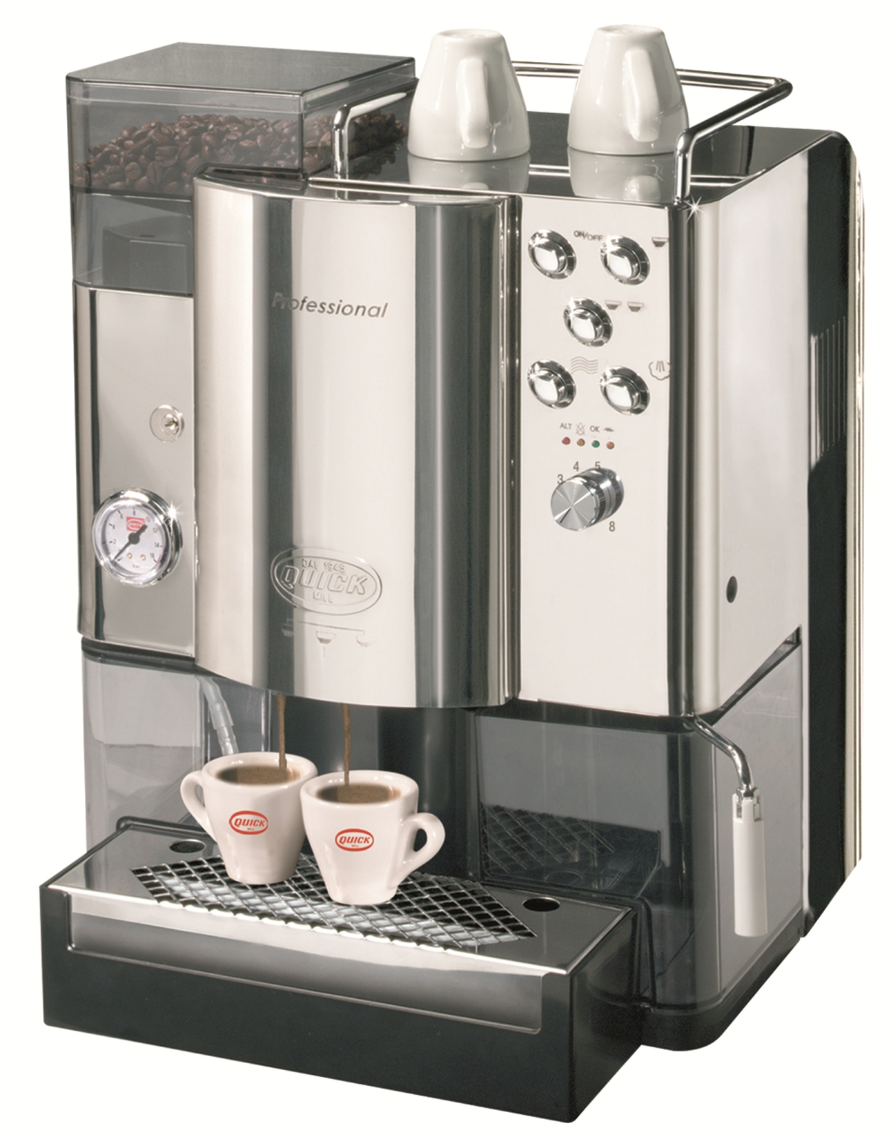 Super-automatic coffee machine Quick Mill Professional MOD.05000, stainless steel