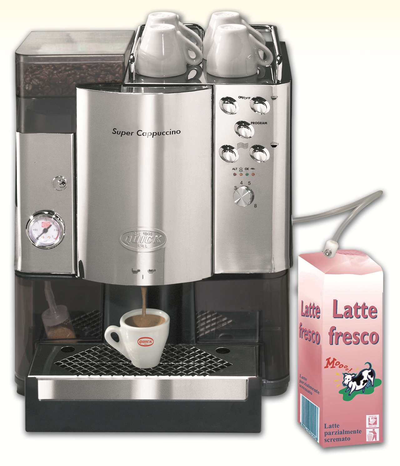 Super-automatic coffee machine Quick Mill Super Cappuccino MOD.05500-OA, stainless steel