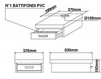 Basamento Bezzera in acciaio inossidabile, 1 cassetto, L=370mm, con foro