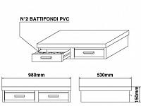 Basamento Bezzera in acciaio inossidabile, 2 cassetti, L=980mm