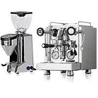 Coffee machine Rocket R58 + Coffee grinder Rocket Fausto polished