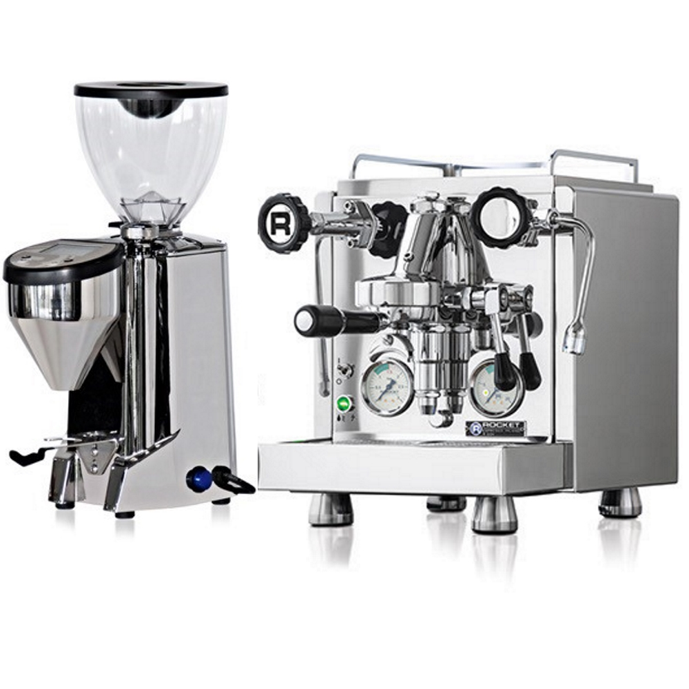 Occasion setup: Coffee machine Rocket R60 V + Coffee grinder Rocket Fausto Chromed