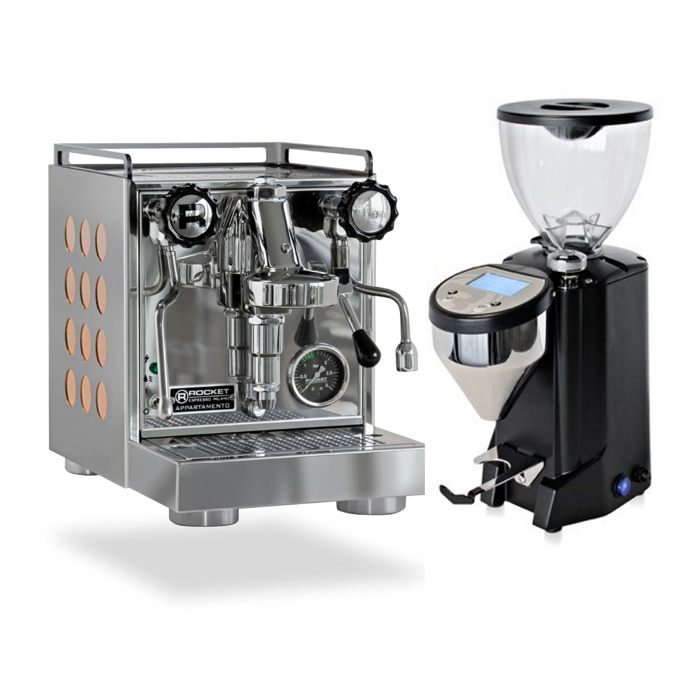 Coffee machine Rocket CAppartamento Cooper + Coffee grinder Rocket Fausto black