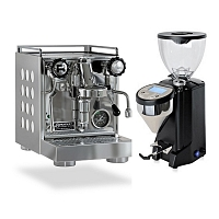 Coffee machine Rocket CAppartamento White + Coffee grinder Rocket Fausto black