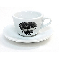"Set of 6 large cappuccino cups of 260cc ""BEZZERA SINCE 1901"""