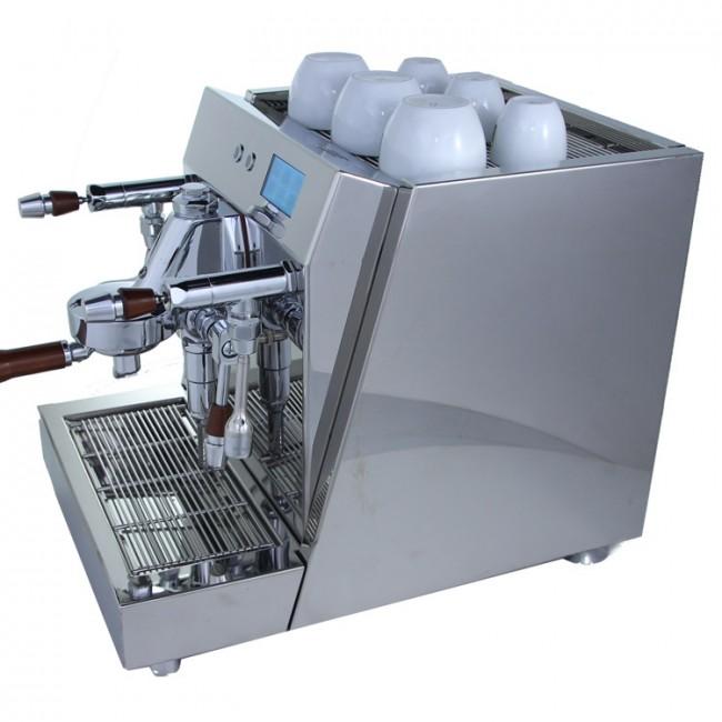 Espressor Ambient Espresso ACS Vesuvius Inox, doua boilere, control PID, sistem profilare presiune