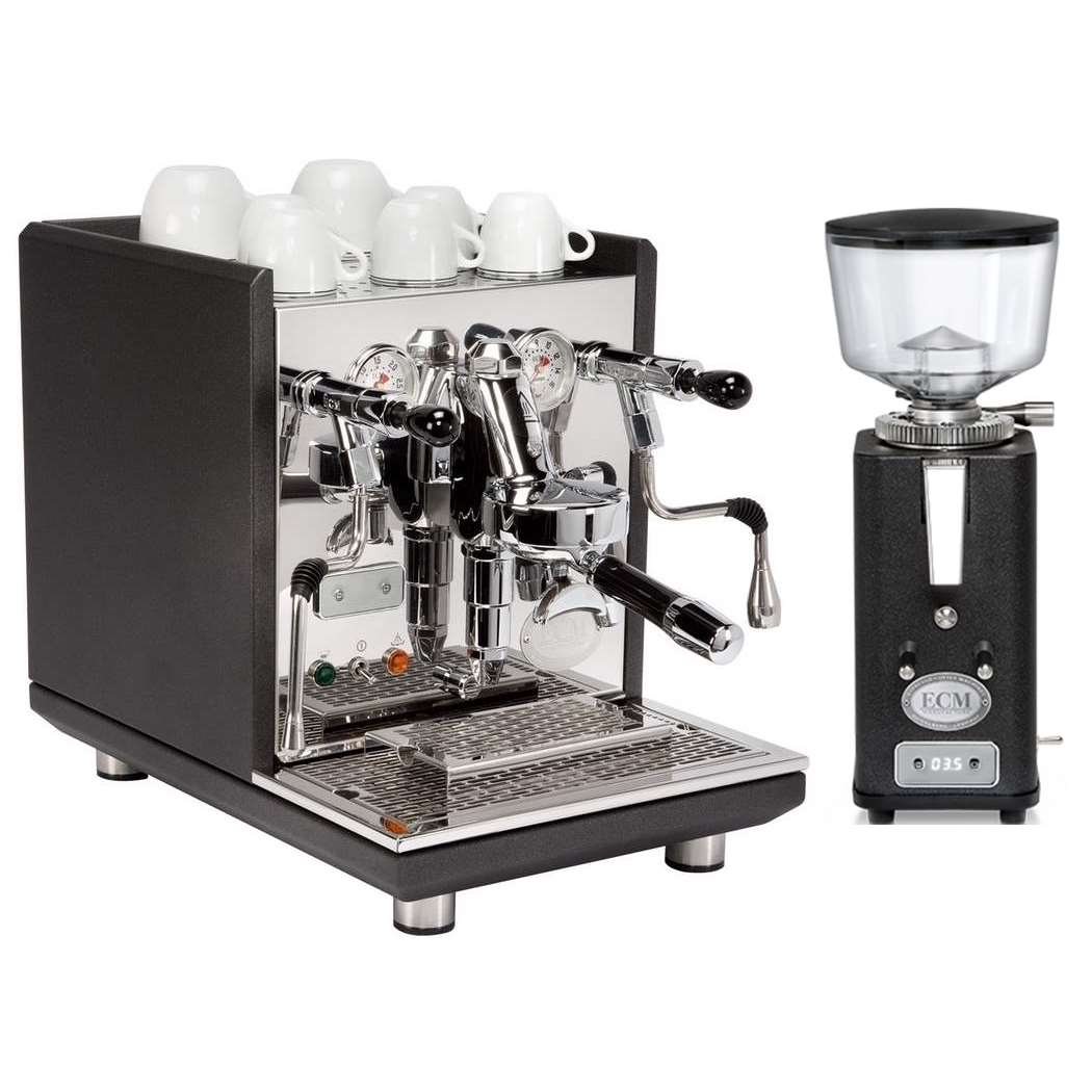 Coffee machine ECM Synchronika Anthracite + Coffee grinder ECM V S-Automatik 64 Anthracite