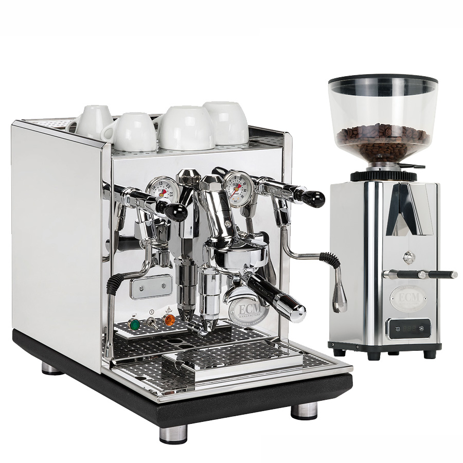 Coffee machine ECM Synchronika + Coffee grinder ECM V S-Automatik 64