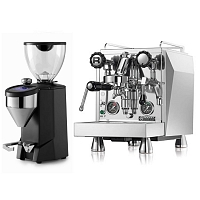 Coffee machine Rocket Giotto Evoluzione Type R + Coffee grinder Rocket Fausto black