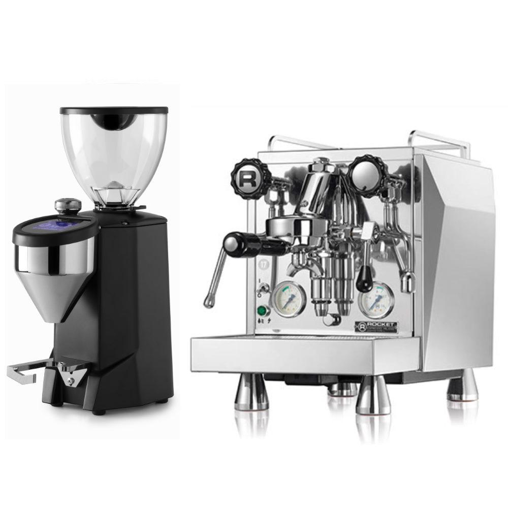 Coffee machine Rocket Giotto Type V + Coffee grinder Rocket Fausto black