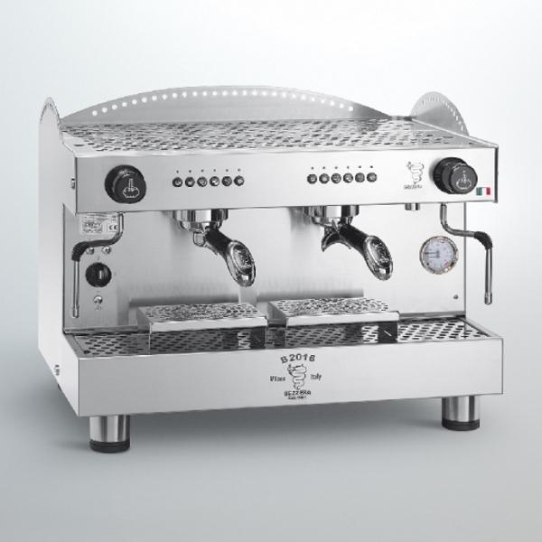 Professional coffee machine Bezzera B2016 DE, electronic dosage, 2 group