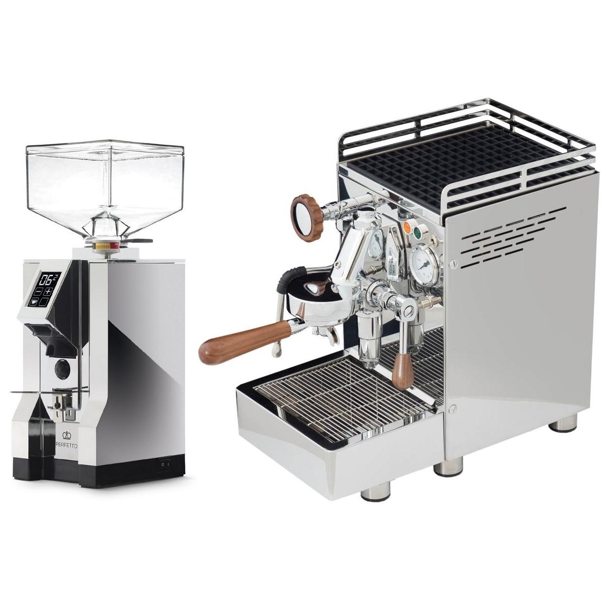 Espressor 969.coffee Elba3 + Râşniţă Eureka Mignon Specialita' 16CR - Crom