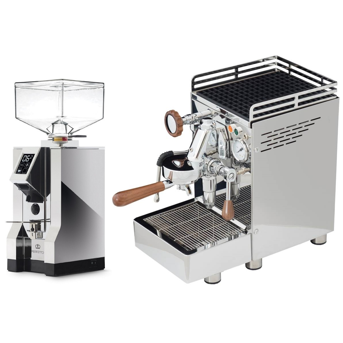 Coffee machine 969.coffee Elba2 Lux + Coffee grinder Eureka Mignon Specialita' 16CR - Chrome