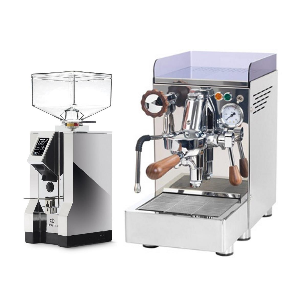 Coffee machine 969.coffee Elba2 + Coffee grinder Eureka Mignon Specialita' 16CR - Chrome