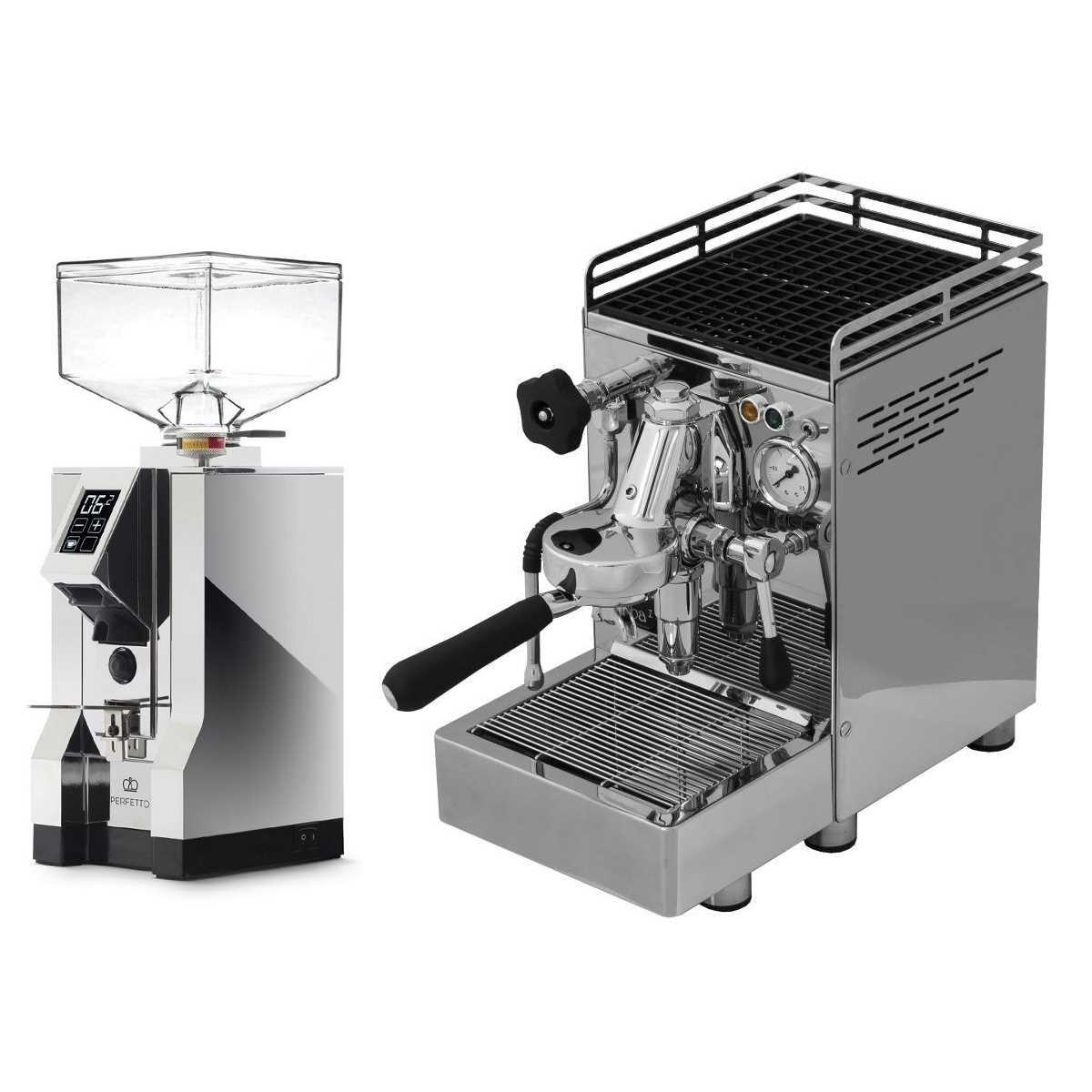 Espressor 969.coffee Elba1 Lux + Râşniţă Eureka Mignon Specialita' 16CR - Crom