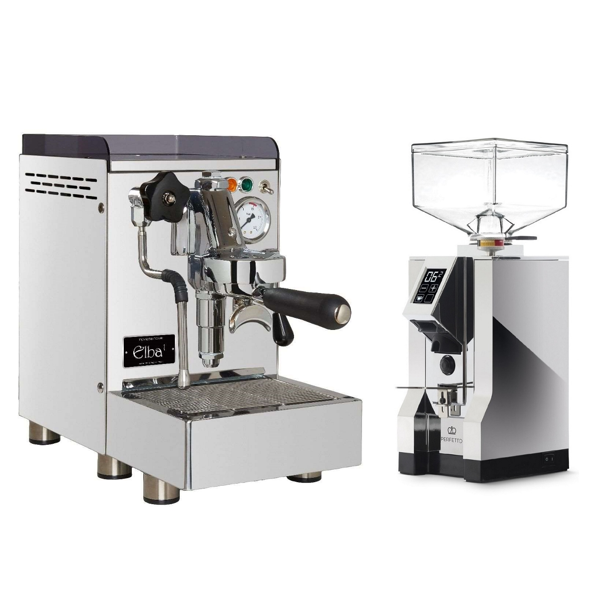 Coffee machine 969.coffee Elba1 + Coffee grinder Eureka Mignon Specialita' 16CR - Chrome