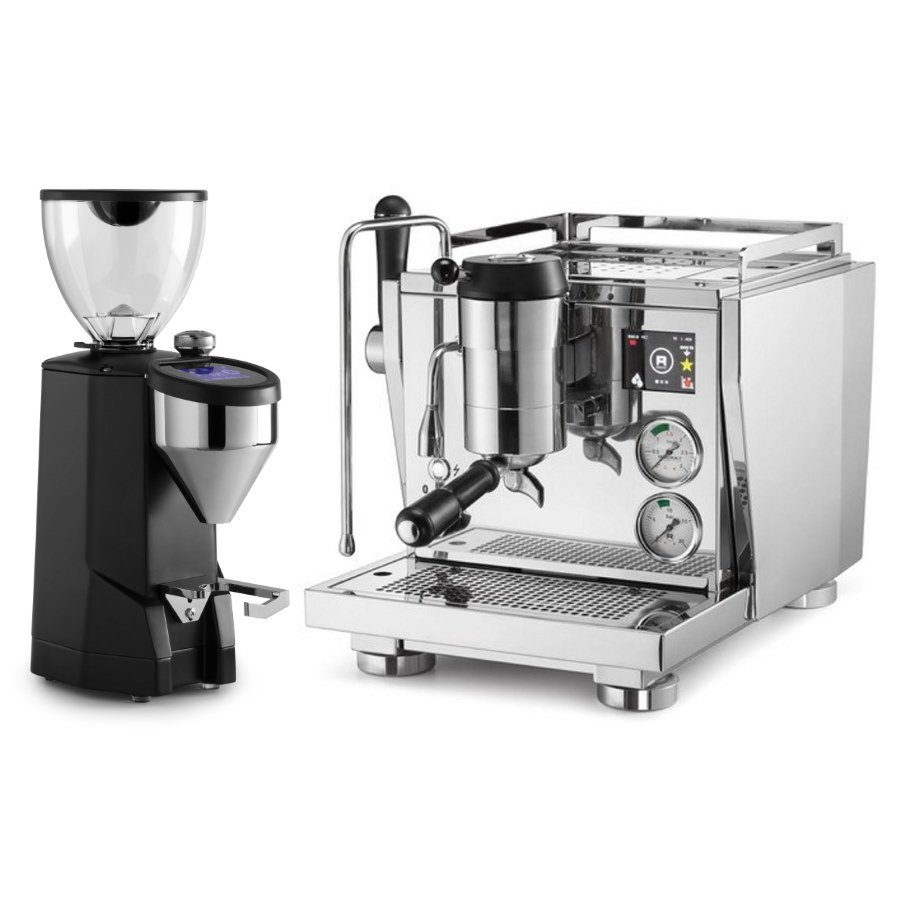 Coffee machine Rocket R NINE ONE + Coffee grinder Rocket Super Fausto black
