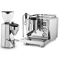 Espressor Rocket R NINE ONE + Râşniţă de cafea Rocket Super Fausto lucioasă