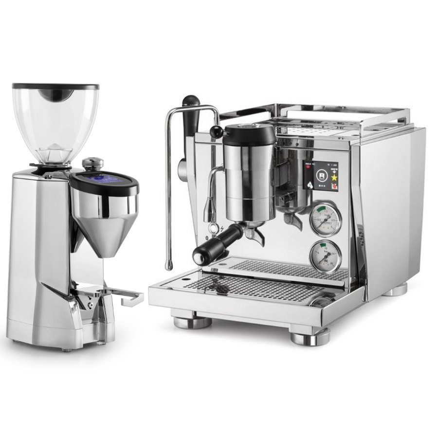 Coffee machine Rocket R NINE ONE + Coffee grinder Rocket Super Fausto polished