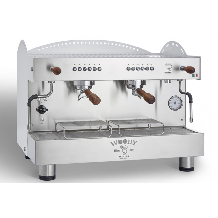 Professional coffee machine Bezzera Woody, electronic dosage, 2 group