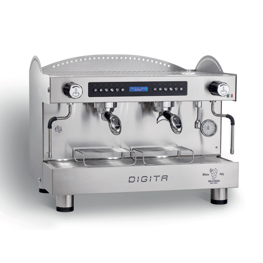 Professional coffee machine Bezzera Digita, 2 groups