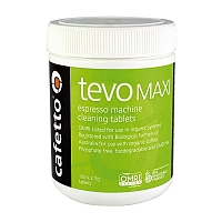 Cafetto Tevo Mini - premium backflush cleaning tablets for coffe machines (jar 150 tablets of 2.5gr)