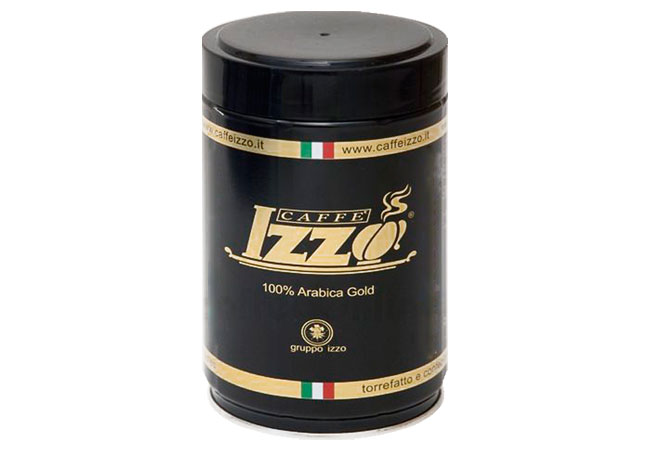Coffee beans Izzo 100% Arabica Gold, tin 250g
