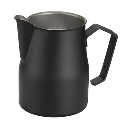 Professional milk jug Motta Europa Black 35 cl