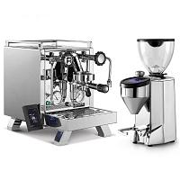Coffee machine Rocket CINQUANTOTTO + Coffee grinder Rocket Fausto polished