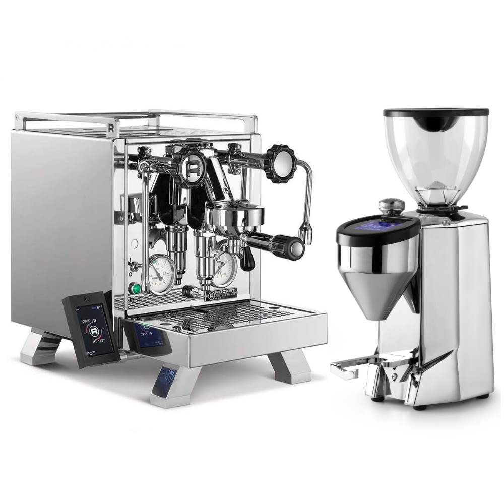 Coffee machine Rocket CINQUANTOTTO + Coffee grinder Rocket Fausto polished