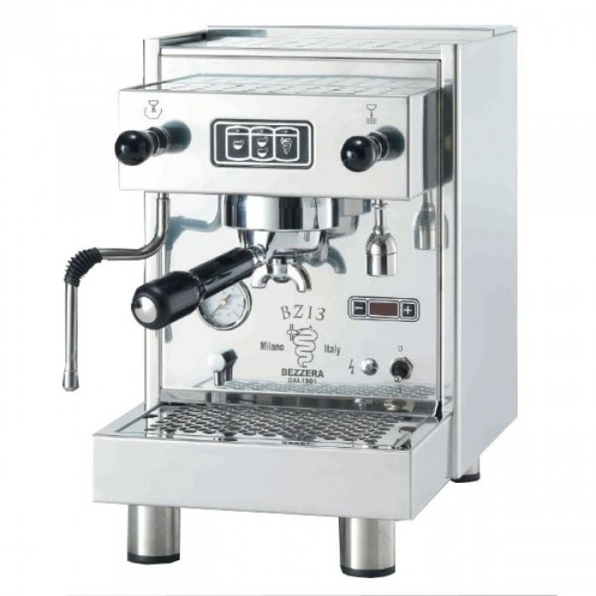 Coffee machine Bezzera BZ13 DE PID, electronic dosing, water tank, vibration pump, double manometer