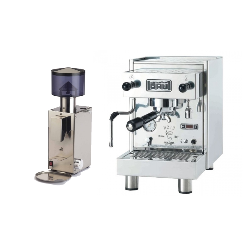 Coffee machine Bezzera BZ13 DE + Coffee grinder Bezzera BB005 TM