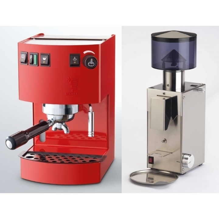 Coffee machine Bezzera New Hpbby Red + Coffee grinder Bezzera BB005 TM