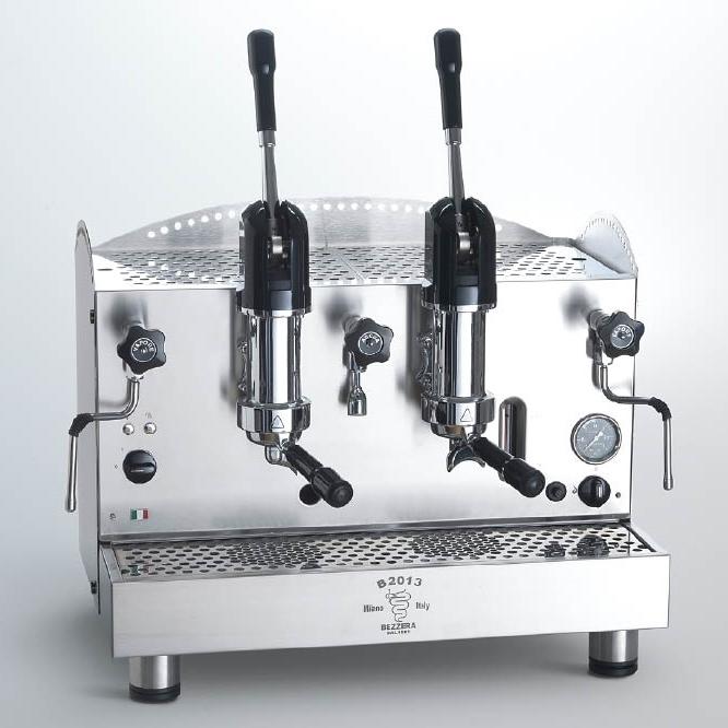 Macchina caffè professionale Bezzera B2013 AL, leva dosaggio, 2 gruppi