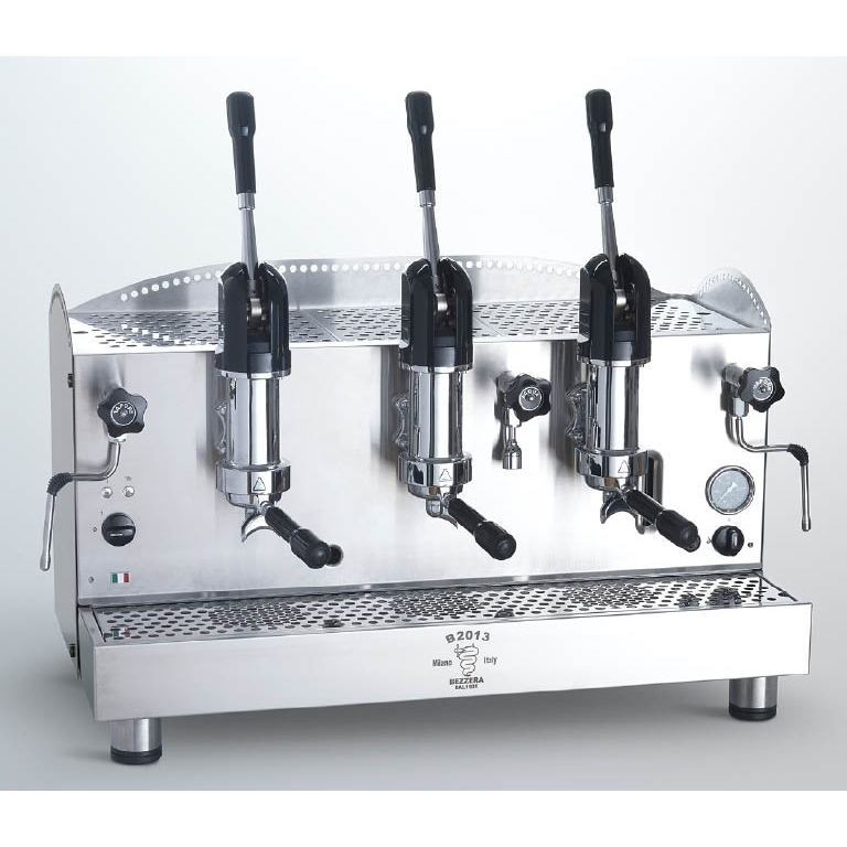 Macchina caffè professionale Bezzera B2013 AL, leva dosaggio, 3 gruppi