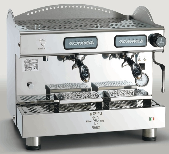 Macchina caffè professionale Bezzera C2013 COMPACT DE, dosaggio elettronico, 2 gruppi