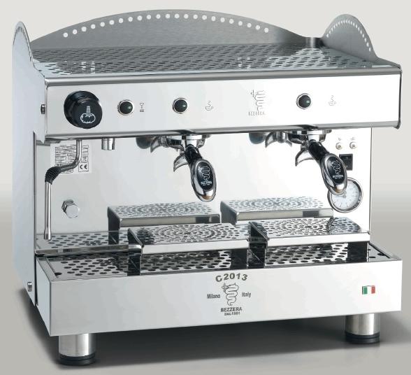 Macchina caffè professionale Bezzera C2013 COMPACT PM, dosaggio manuale, 2 gruppi