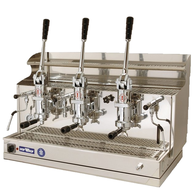 Professional lever coffee machine Izzo MyWay Pompei, 3 groups