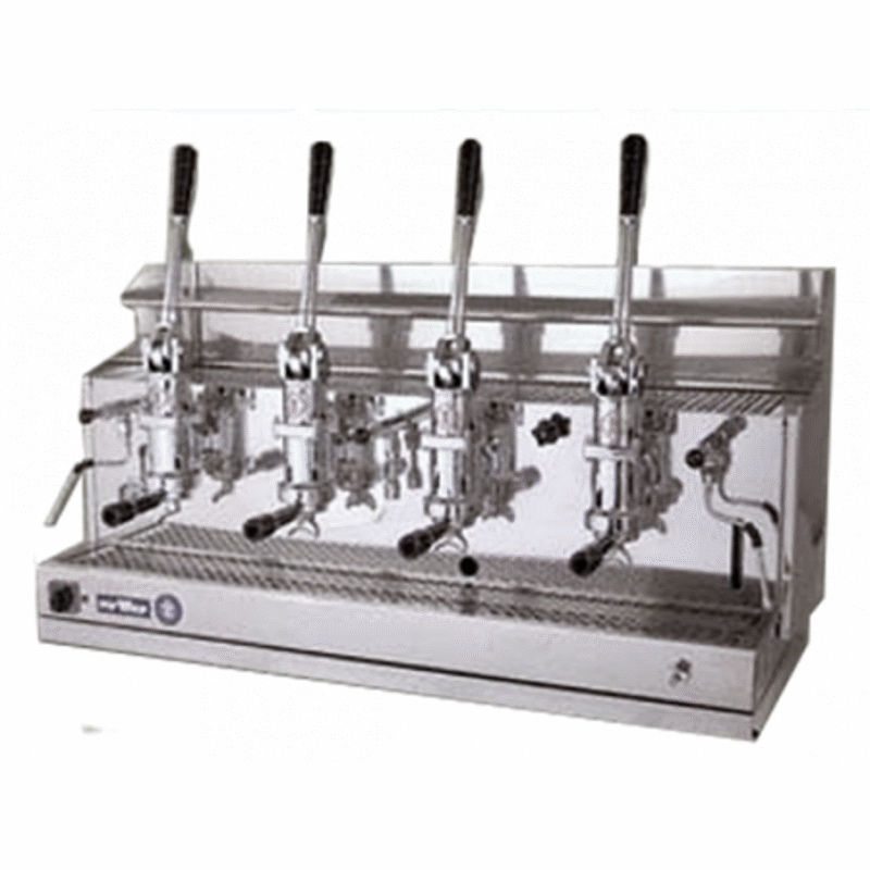 Professional lever coffee machine Izzo MyWay Pompei, 4 groups
