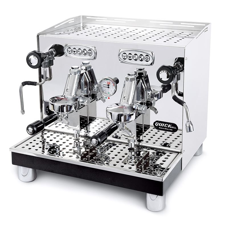 Macchina caffè automatica professionale Quick Mill Uragano Compact MOD.0998 DE, 2 gruppi