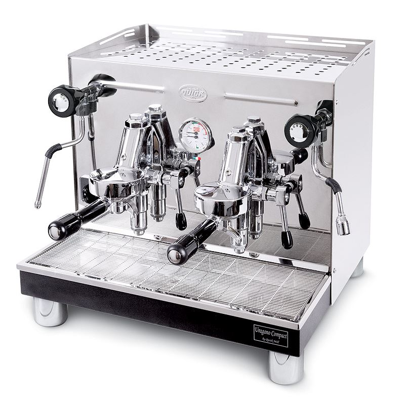 Professional semiautomatic coffee machine Quick Mill Uragano Levetta MOD.0998 M, 2 groups
